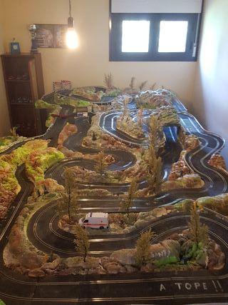 Maqueta rallye Scalextric