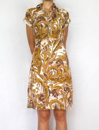 Vestido Auténtico Vintage de los años 70