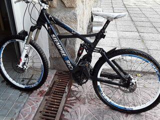 Bicicleta de montaña eléctrica doble suspensión