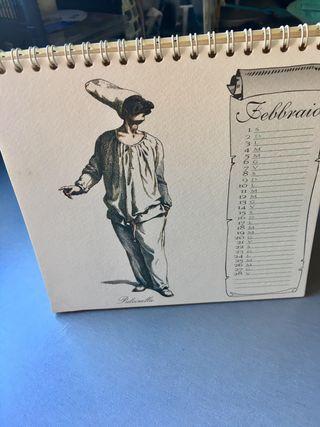 Calendario de mesa de la comedia del arte italiana