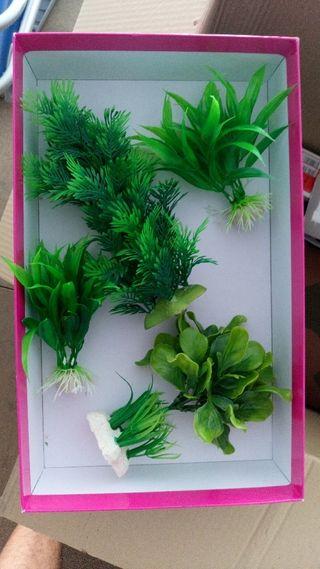 plantas artificiales para acuario