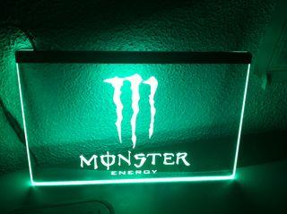 Cartel luminoso monster energy