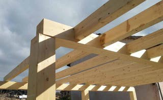 Se hacen montajes de madera para feira franca