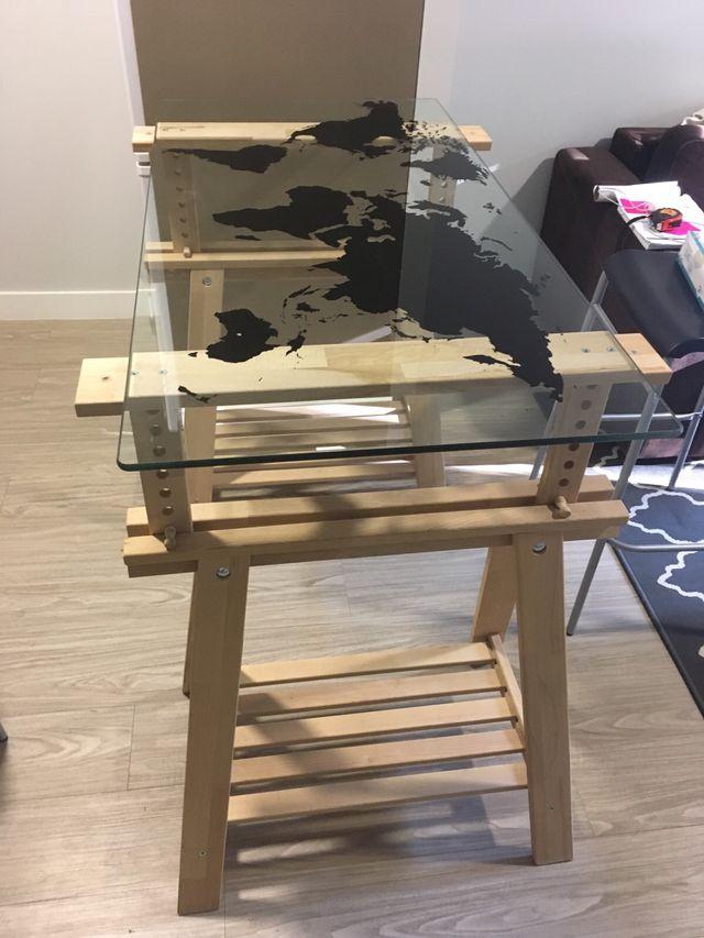 Mesa ikea caballetes y tablero mueble de oficina de - Ikea mueble oficina ...