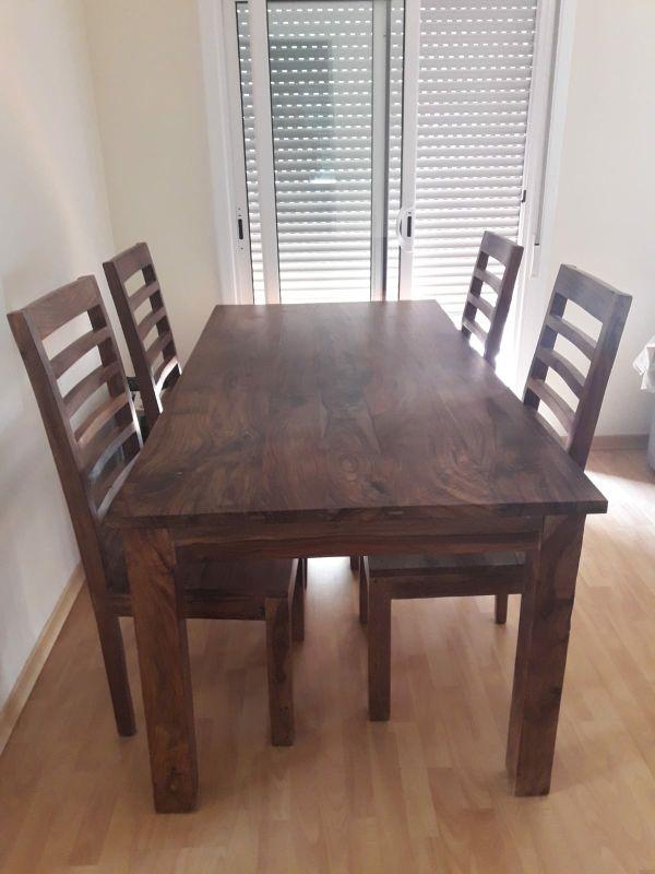 Mesa comedor colonial más 4 sillas de segunda mano por 900 € en ...
