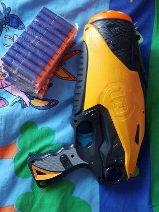 nerf 10 dart tag pistola +50
