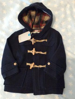 abrigo gris paño zara