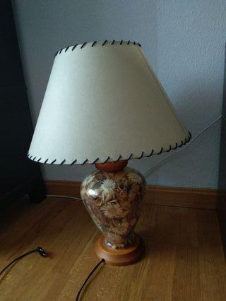 madera segunda por de en y € 25 mano Lámpara de cristal mesa qzLUMGpSV