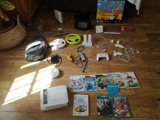 Lote Wiiu + Wii + Accesorios + Juegos + Mochila