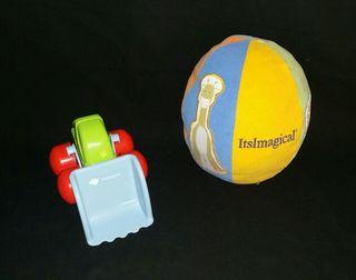 pelota y excavadora imaginarium juguete