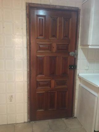 puertas de madera exteriores de segunda mano en wallapop