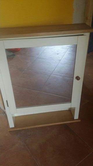 Mueble de ba o ikea madera 4 estantes de segunda mano por 25 en pedrezuela en wallapop - Mueble ikea bano ...
