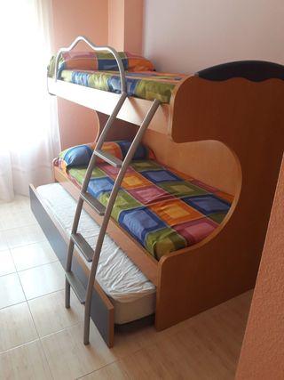 litera de tres camas - Literas Para Tres