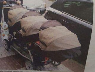 carrito trillizos