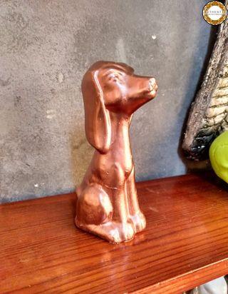 Figura Perro Cobre 16cm Alto