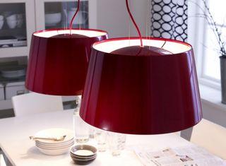 Lámpara de techo Ikea Kulla Roja