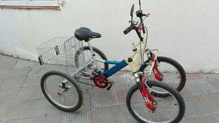 Bicicleta de cuatro (4) ruedas.