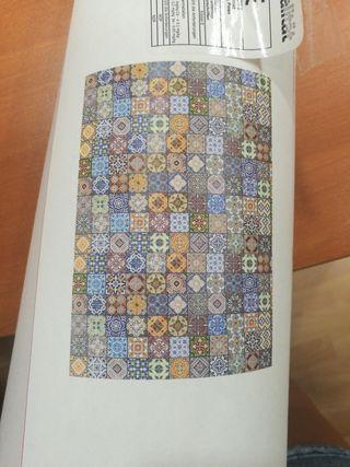 Papel pared azulejo hidráulico