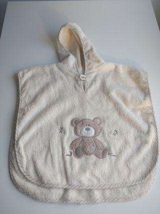 Toalla poncho para bebé