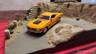 diorama con coche