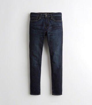 Pantalones tejanos oscuros Hollister nuevos
