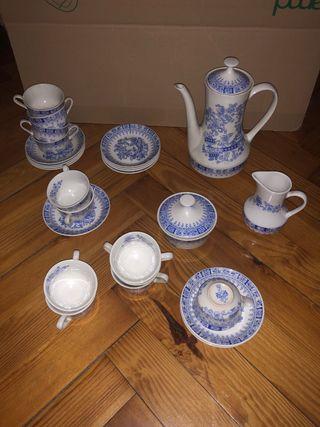 """Juego de café """"Pontesa"""" Ironstone China Blau"""