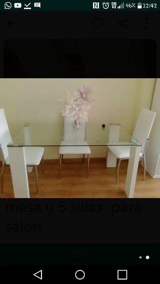mesa +5sillas