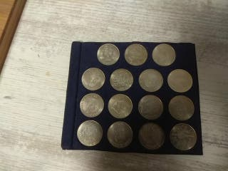 monedas plata f.c.barcelona