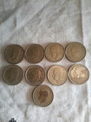 lote de 9 monedas de 100pesetas