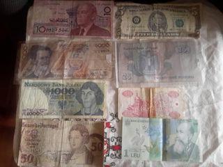 8 billetes de distintos países