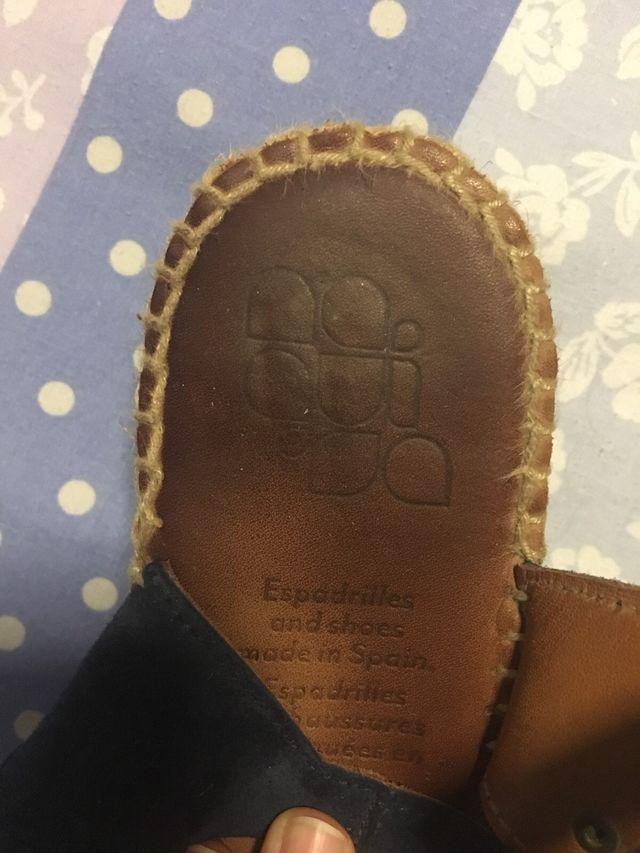 Zapatillas de esparto Naguisa talla 38