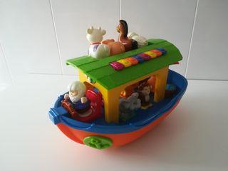 barco juguete con animales y sonidos de animales