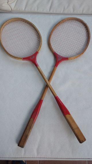 Antiguas Raquetas de bádminton de madera