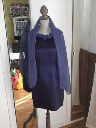 Vestido morado modista