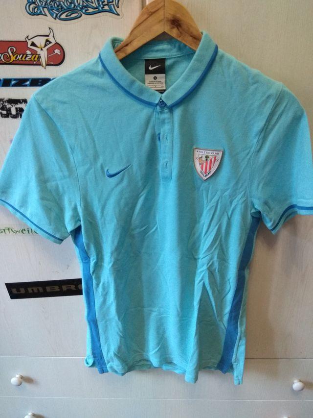 20f823dfc3c2d Polo azul del Athletic Club de Bilbao NIKE talla S de segunda mano ...