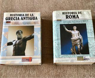 2 libros de Roma y Grecia antigua