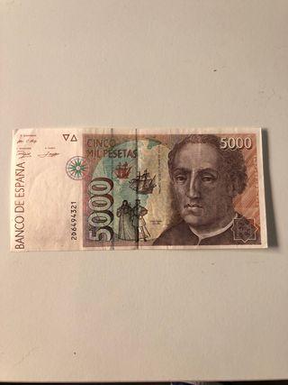 Billete de 5.000 pesetas