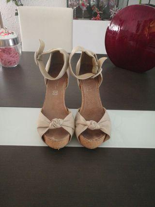 Zapatos tacón plataforma 38