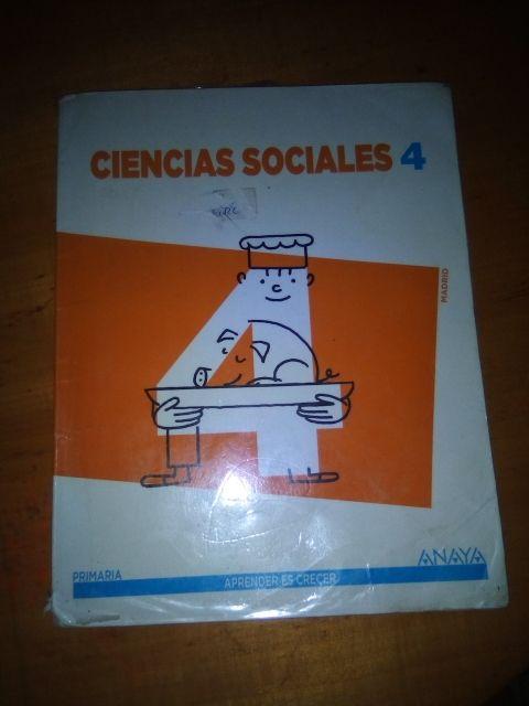 Sociales cuarto de primaria Anaya de segunda mano por 5 € en Parla ...