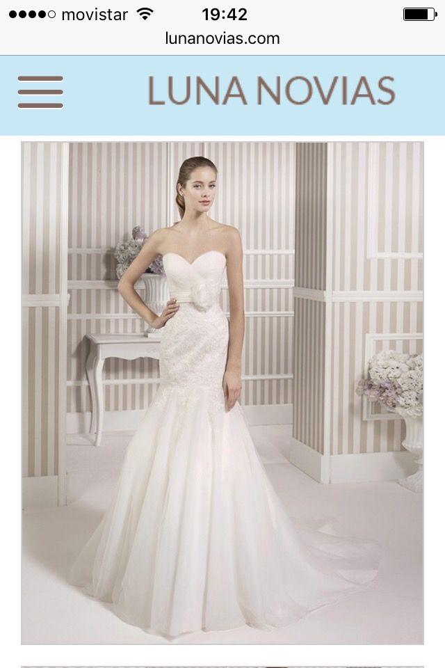 vestido novia luna novias precio sÚper negociable de segunda mano