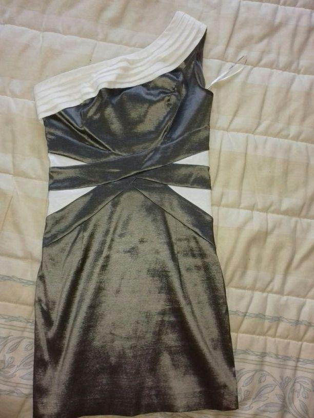 vestido fiesta plata