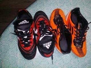 botas de futbol talla 36(dos pares)