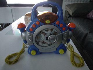 Reproductor Cd con microfonos infantil