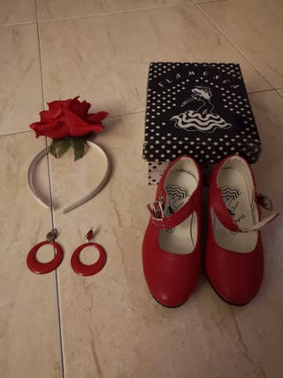 Zapatos flamenca niña
