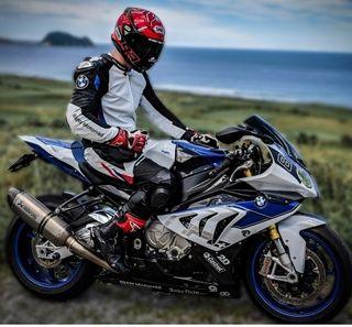 mono de moto bmw doble rr