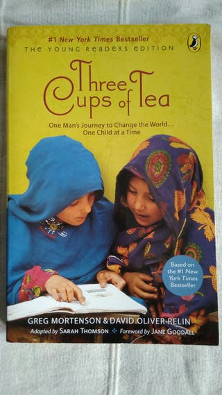 Three cups of tea,Young readers.Book. English