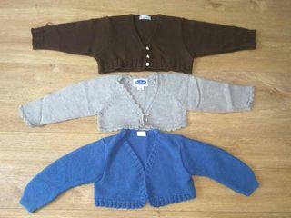 lote 3 chaquetas 6-12 meses