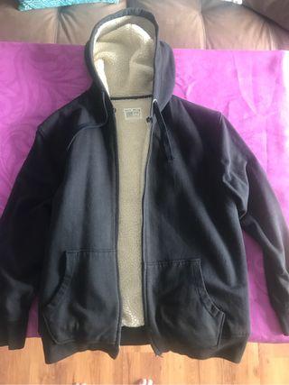 Abrigo lana con capucha, con forro interior