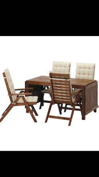 Conjunto jardin mesa sillones y cojines de segunda mano por 300 en torrefarrera en wallapop - Sillones de jardin ikea ...