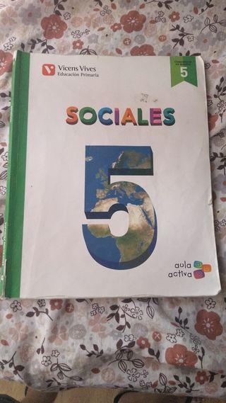 libro de texto 5 primaria de SOCIALES
